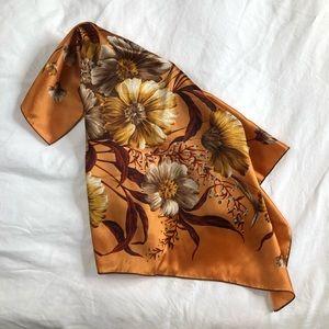 S O L D // VINTAGE/ italian floral scarf